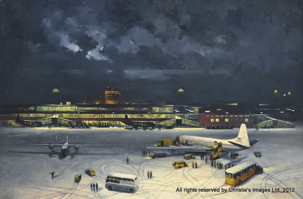 Terminal 2, Heathrow by David Shepherd (b. 1930)