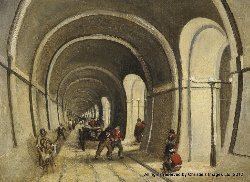 The Thames Tunnel by a member of the circle of William Tombleson, 19th century